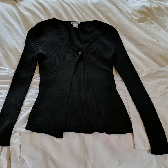 Urchin Sweaters - Black Urchin Maternity Long Sleeve Silk Sweater